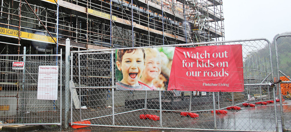 Construction has begun at part of Fletcher Building's Three Kings Housing Development, which Labour's Michael Wood has opposed. Photo by Lynn Grieveson
