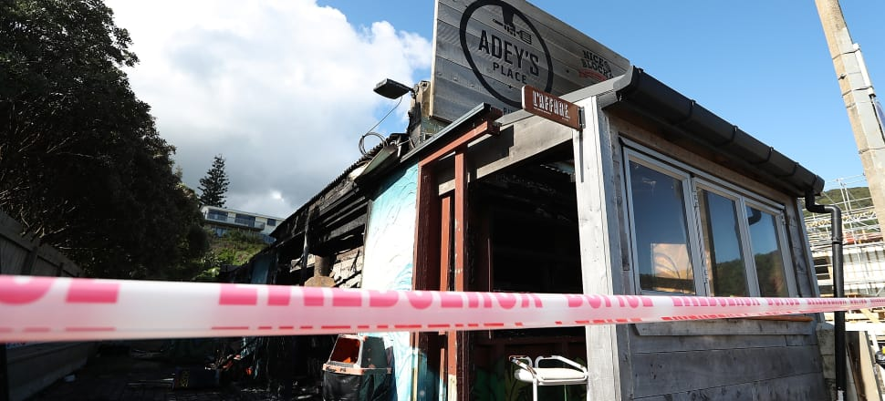 Fish and chip shop Adley's Place, which was destroyed in one of the fires. Photo: Getty Images