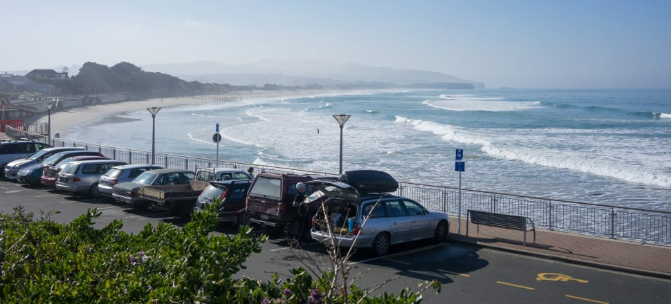 Land around the coast of South Dunedin is sinking and sea levels are rising. Photo: Getty Images