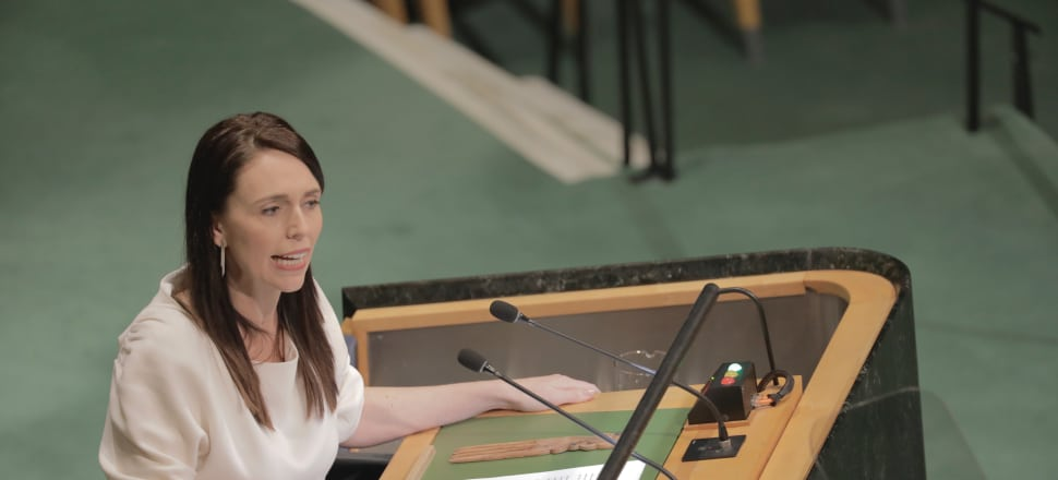 Prime Minister Jacinda Ardern addresses the United Nations General Assembly. Photo: Supplied.