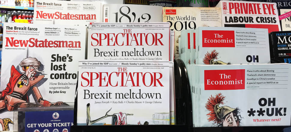 UK politics - and newstands - are dominated by Brexit. Photo: Eilish Grieveson