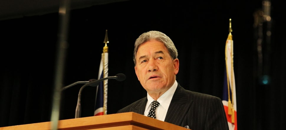 Winston Peters announced yesterday the bill to ban certain semi-automatic weapons was ready for Parliament. Photo: Lynn Grieveson