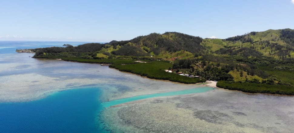 Freesoul Real Estate carved a large channel through the reef near its big Malolo resort development. Photo: Hayden Aull