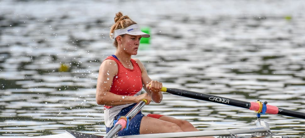 """Teenager Shakira Mirfin is an """"exceptional"""" athlete, who's brought the same passion and dedication from her international BMX career to rowing. Photo: Rowing NZ/Art of Rowing."""