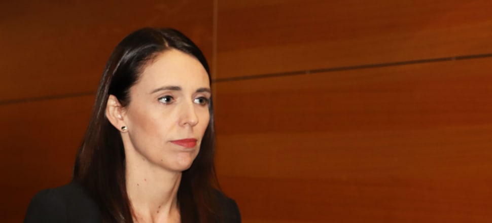 Jacinda Ardern photographed seconds before telling media CGT was off the table under her leadership. Photo: Lynn Grieveson.