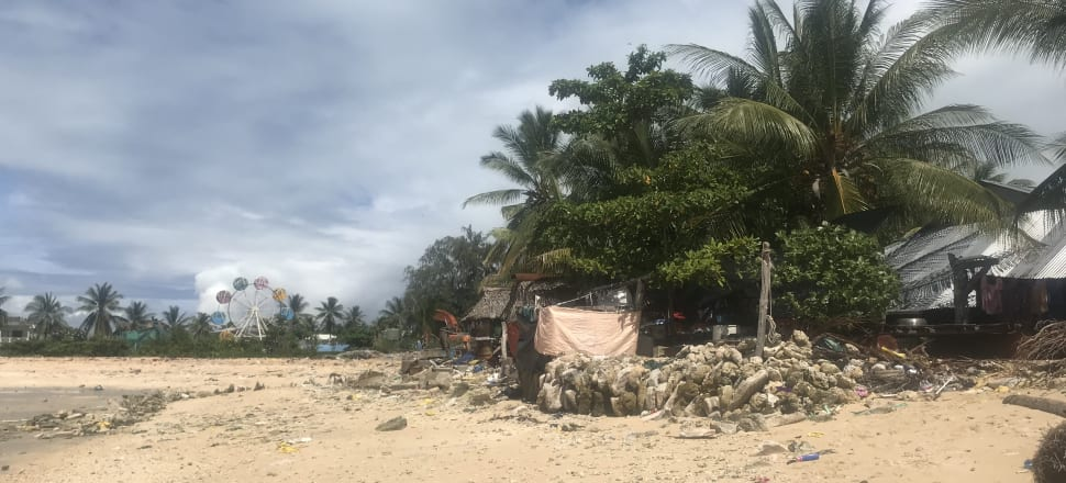Those in some Pacific countries like Kiribati risk losing their land and homes to climate change. Photo: Laura Walters