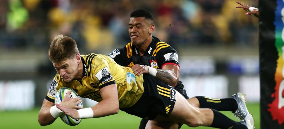 Jordie Barrett showed on Saturday night against the Chiefs that New Zealand isn't struggling for quality fullbacks who could play at the world cup. Photo: Getty Images