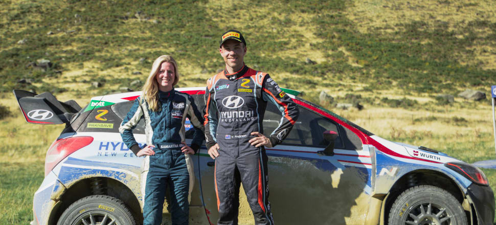 Onion agronomist Samantha Gray has been given the opportunity of her career to co-drive for NZ's top rally driver, Hayden Paddon, in this weekend's International Rally of Whangarei. Photo: Jack Smith, MA Media.
