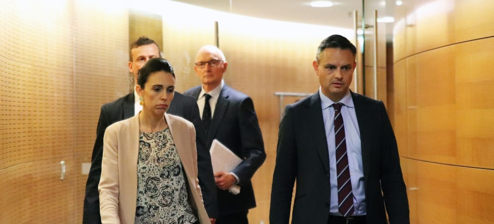 Jacinda Ardern and James Shaw announced extra funding for Statistics NZ to fix the 2018 census and future-proof future censuses. Photo: Lynn Grieveson.