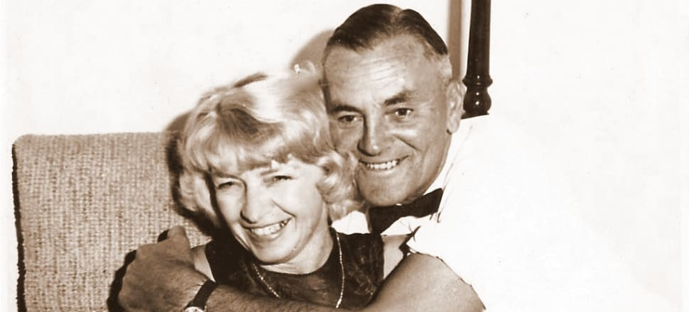 """""""Mr and Mrs Bellwood"""" - Jim and Emmy - were instrumental in Yvette Williams' Olympic long jump victory in 1952. But Emmy's wider contribution to NZ sport was immense, and almost unknown. Photo: Supplied."""