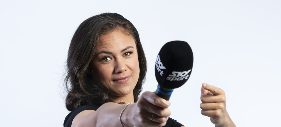 """A """"good yarner"""" at school, Ruby Tui will be comfortable in her new role as a contracted SKY Sport commentator - although she admits a few nerves won't be a bad thing.  Photo: Brett Phibbs, Sky Sport."""
