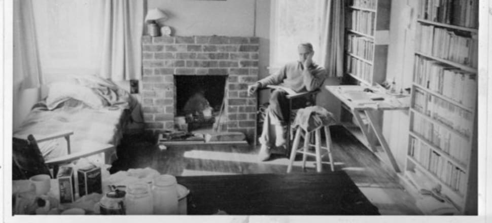 Frank Sargeson inside his house in Takapuna, Auckland. Photo: Ref: 1/2-003138-F. Alexander Turnbull Library, Wellington.