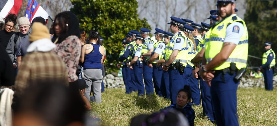 What's happening at Ihumātao is a breach of Indigenous peoples' human rights to their lands, territories and resources. Photo: Getty Images