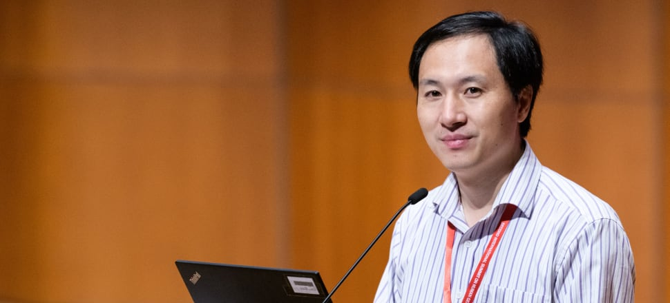 Scientist He Jiankui speaking at a Human Genome Editing conference in Hong Kong last year, Photo: Getty Images