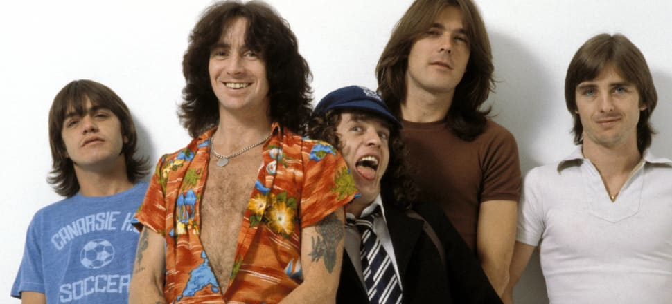 AC/DC with Malcolm Young at left. Photo: Getty Images