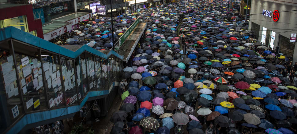 Tens of thousands of protesters took to Hong Kong's streets again in the weekend. Photo: Getty Images