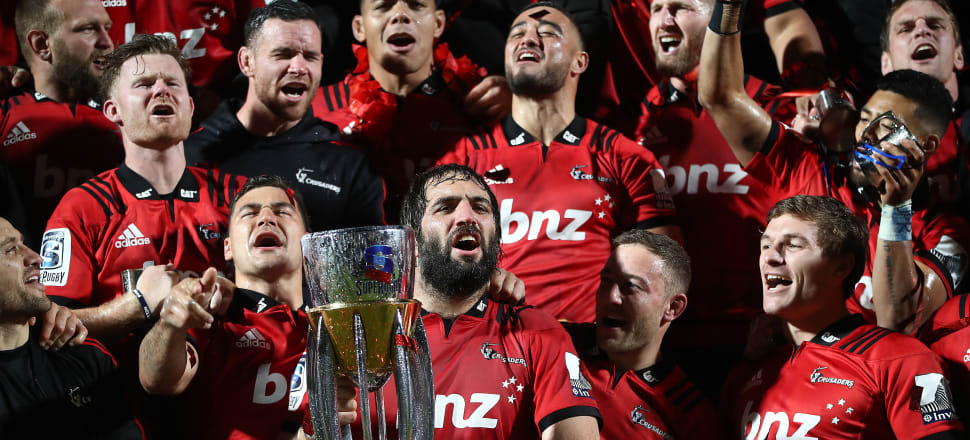 Despite winning this year's Super rugby title, a cloud hangs over the Crusaders regarding its name. Photo: Getty Images