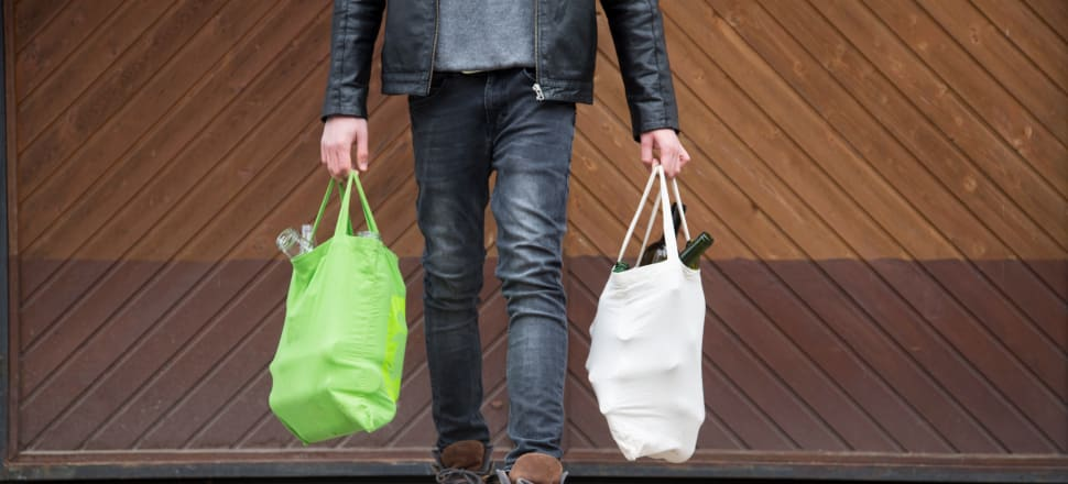 Cloth and cotton reusable bags have been replacing plastic bags at the supermarket. But the plastic problem is bigger than bags, says a new report, Rethinking Plastics. Photo: Getty Images