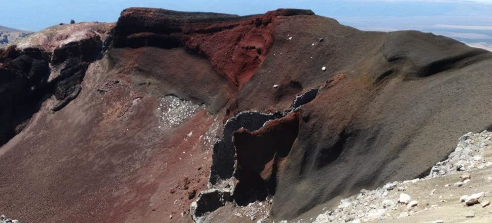 Tongariro's Red Crater is evidence of the explosive power of that volcanic field. Photo: Alexia Russell