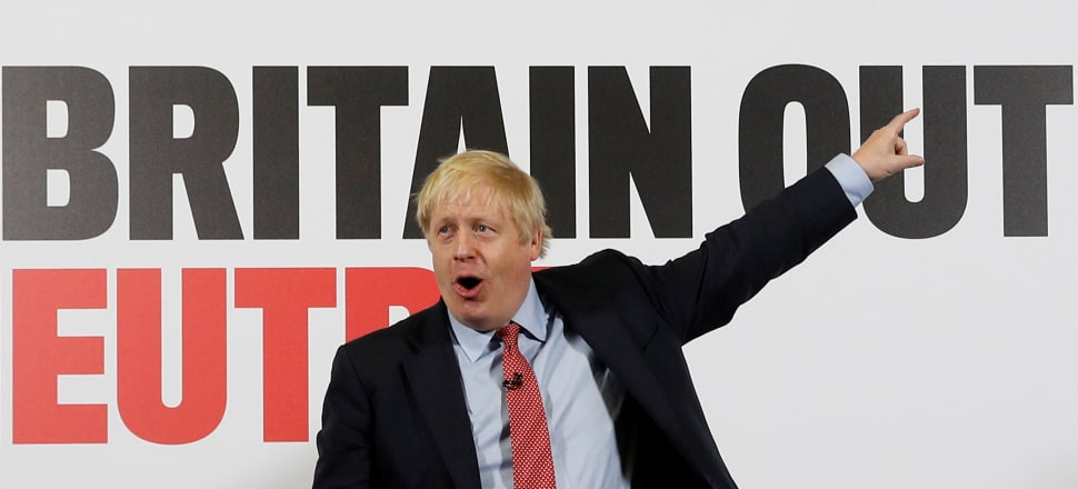 Donald Trump's style of xenophobic nationalism has been vociferously grasped by Boris Johnson. Photo: Getty Images