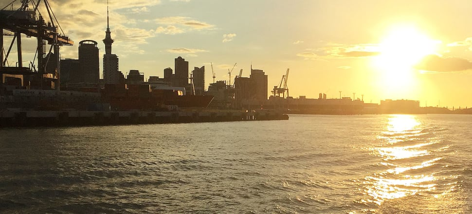 Is the sun setting on the Auckland port site? Photo: Lynn Grieveson