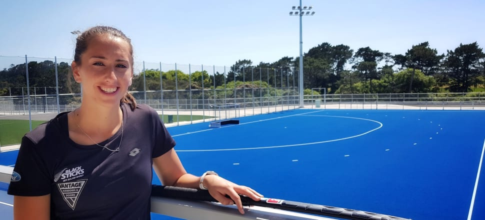 Black Sticks defender Steph Dickins was wowed by the new National Hockey Centre in Albany, that will become her home leading up to the Tokyo Olympics. Photo: Suzanne McFadden.