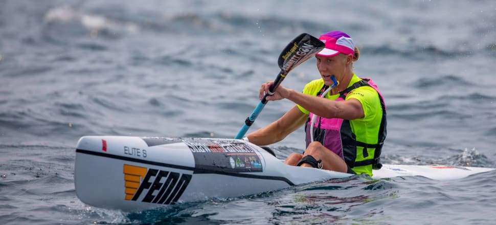 Gold Coast-based Kiwi Danielle McKenzie's decision to add long distance surf-ski racing to her repertoire this year is paying dividends - that help get her to the next race. Photo: Allan Coker.
