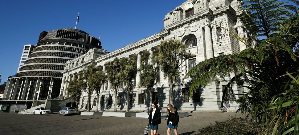 The NZ Parliament and Beehive ministerial wing. Photo: Getty Images