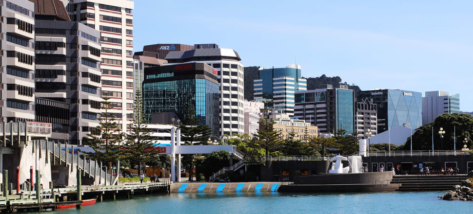 Up to 100 litres of wastewater and raw sewage a second is pouring into the Wellington harbour after a wastewater pipe collapsed in the CBD. Photo: Lynn Grieveson.