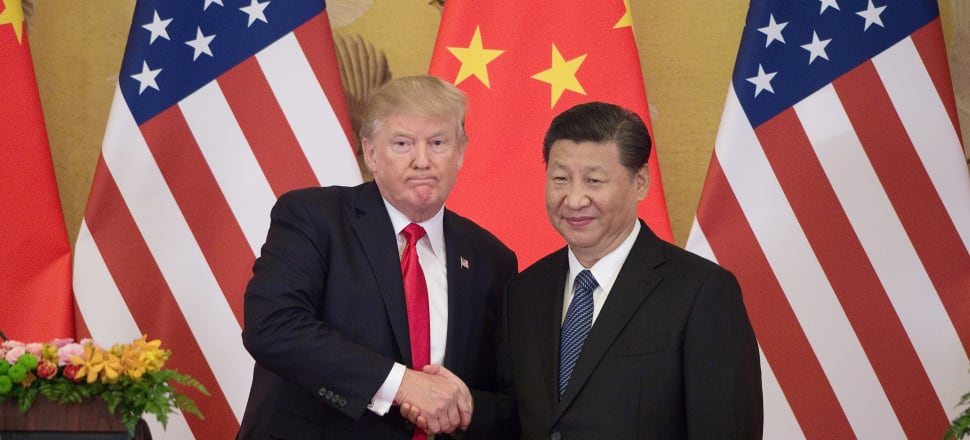 Chinse President Xi Jinping with his trade nemesis Donald Trump. Photo: Getty Images