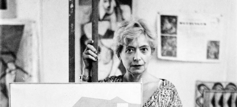 Louise Henderson in her studio in about 1957. Photo: Supplied/Auckland Art Gallery