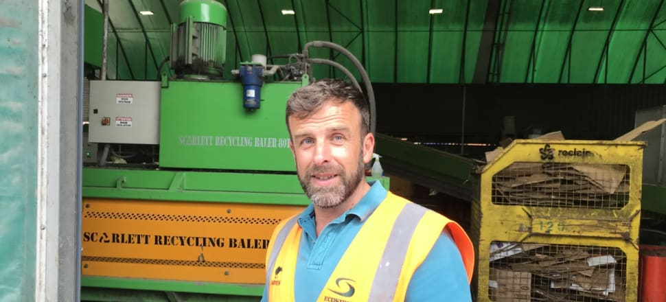 EcoStock's Andrew Fisher at the feed factory. In the last 12 years, EcoStock Supplies has taken up to 35,000 tonnes of waste food a year from supermarkets and manufacturers and turned it into animal feed. Photo: Supplied