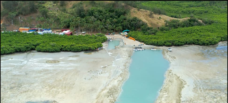 Freesoul Real Estate is accused of illegally dredging 5000 m2 of reef without approval. Photo: Supplied