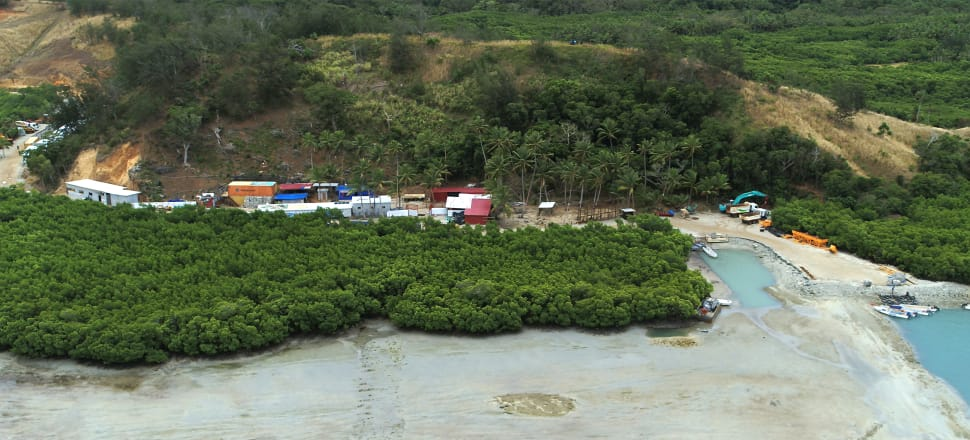 Mangroves and the seabed has been destroyed near land being illegally developed on Fiji's Malolo Island. Photo: supplied.
