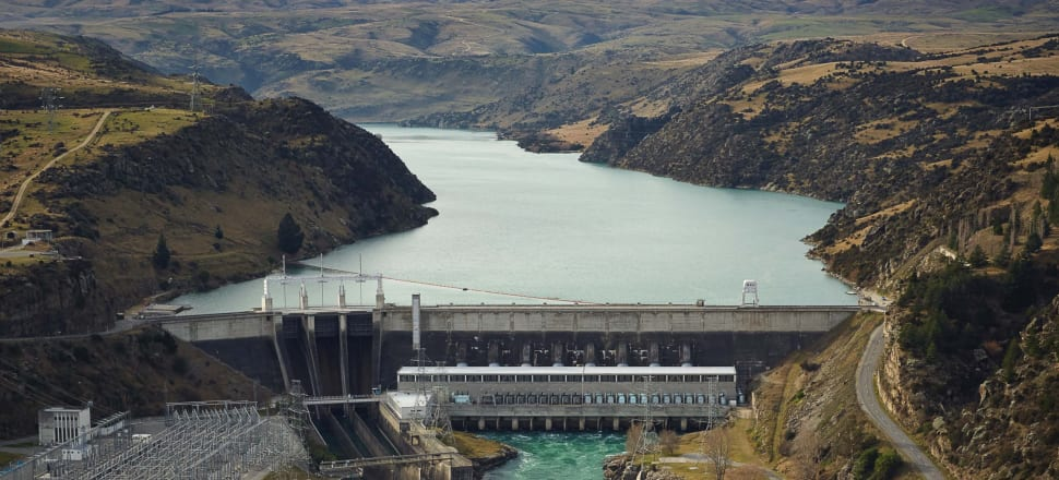 Contact Energy's Roxburgh Dam on the Clutha River in the South Island. Photo supplied by Contact Energy.