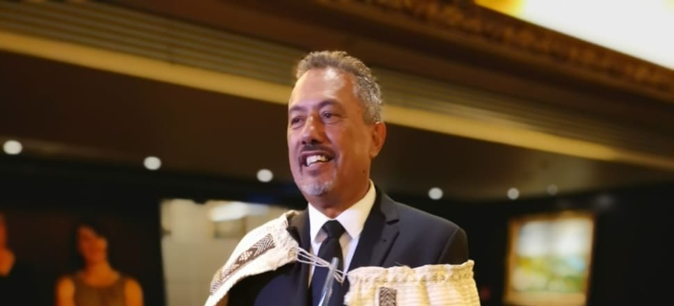 Mike King at last night's New Zealander of the Year awards. Photo: Mark Jennings