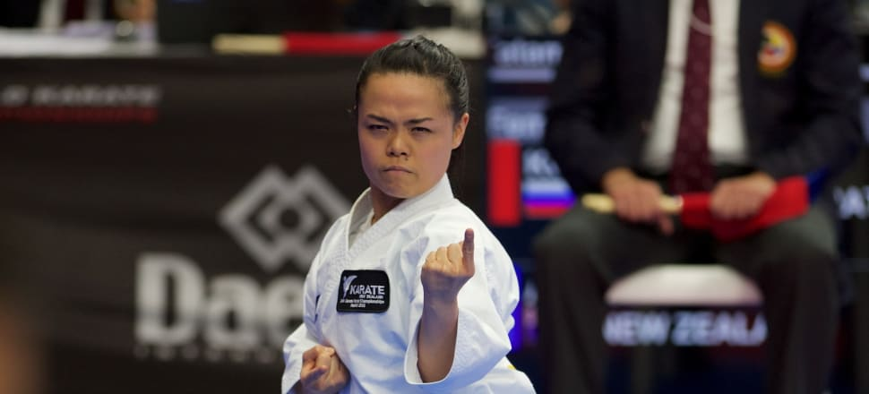 "Karate black belt Andrea Anacan almost gave up her sport with a painful shoulder injury: ""I kept dislocating it in my sleep"". Now she's knocking on the door of Olympic selection. Photo: James Carrett, Rowdy Partners."