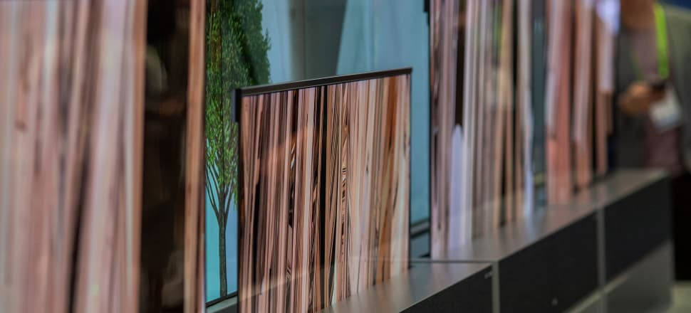 LG's new rollable TV at CES 2019; Photo: Getty Images
