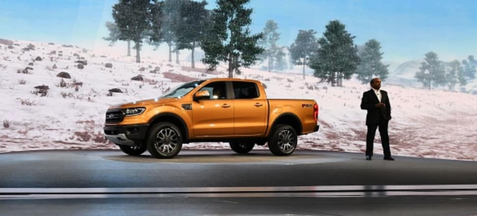 The Ford Ranger (shown here at the 2018 North American International Auto Show in Detroit) has been the top-selling car in NZ for the last four years. Photo: Getty Images