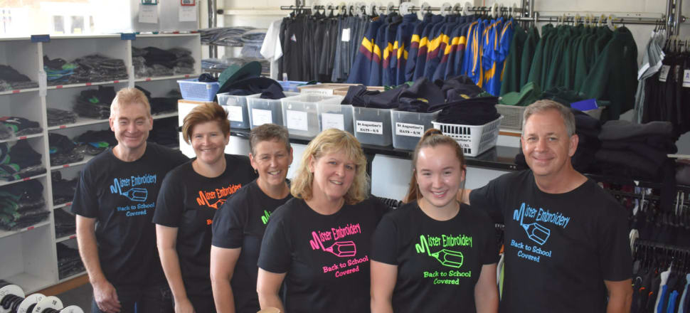 c98a9194201 STITCH IN TIME — Meet the Mr, Mrs and Ms team that make up the gang down at  Mister Embroidery. In addition to running a trophy business out of the  store, ...