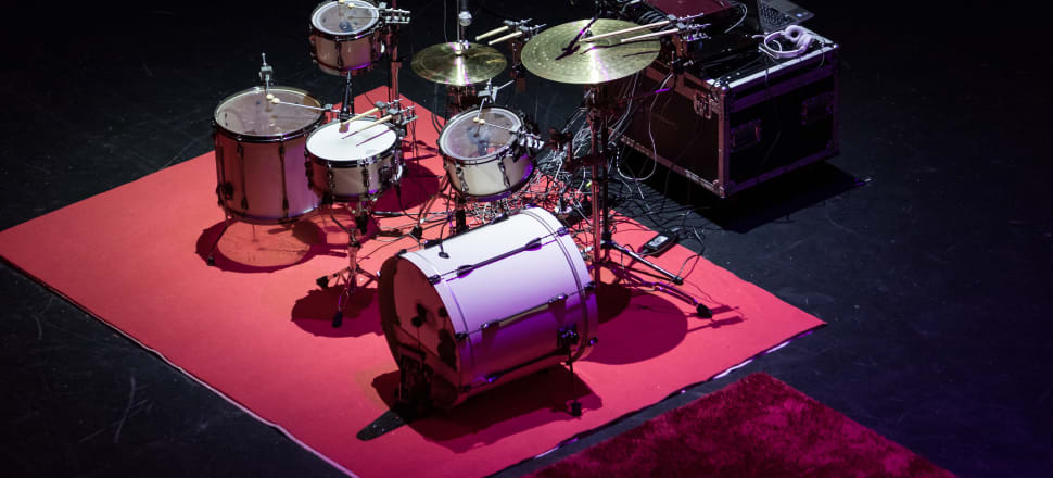 A robotic drum set, as seen at TEDxWellington. Photo: Supplied