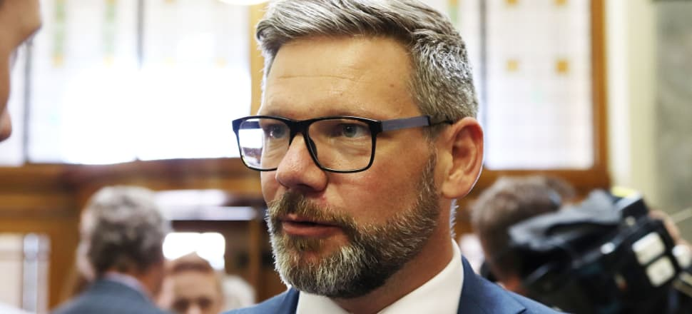 Employment Relations Minister Iain Lees-Galloway released the report of the FPA Working Group at the Beehive this morning. Photo: Lynn Grieveson.