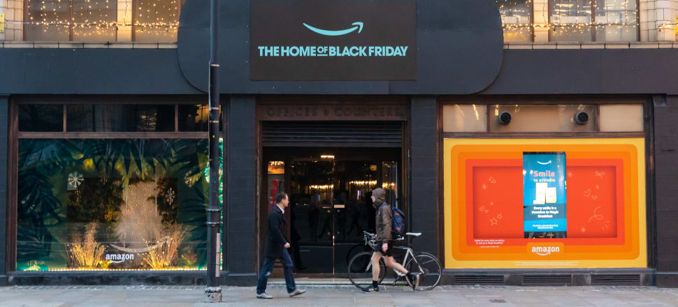 An Amazon Black Friday Pop-Up Shop; Photo: Getty Images