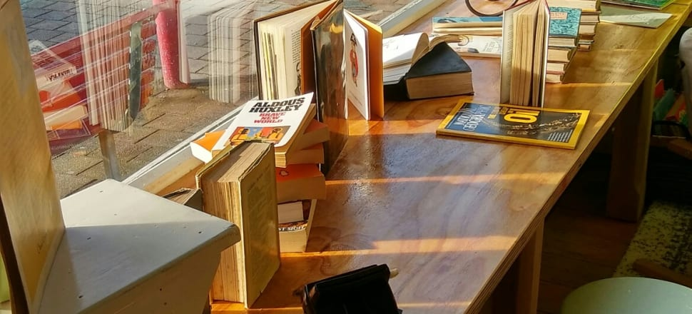 Red bookstore opened in Greymouth last month.  Photo: Supplied.