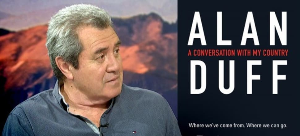 Alan Duff's latest book could have been entitled 'A conversation with myself'. Photo: Screenshot from TVNZ interview.