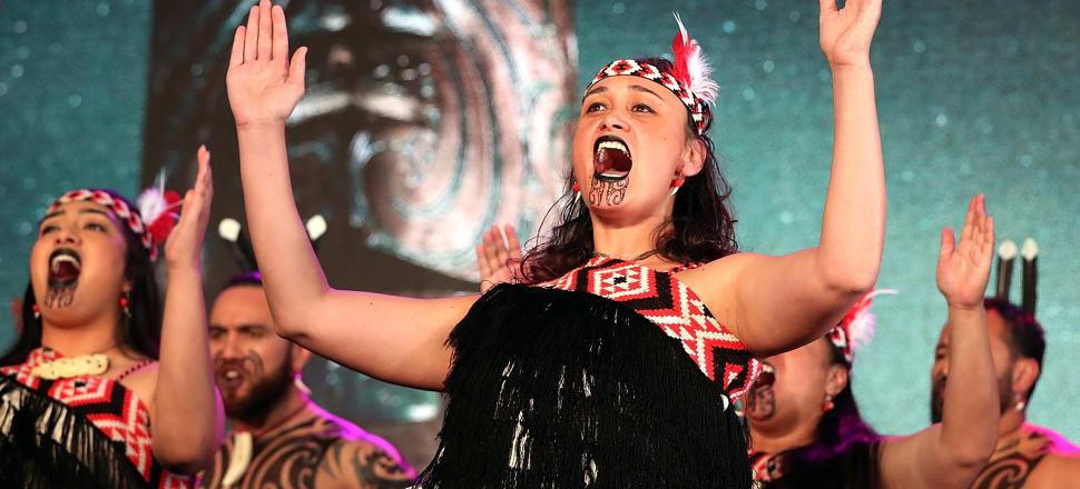 Te Waka Huia perfoming during Matariki in Auckland in 2017. Photo: Getty Images