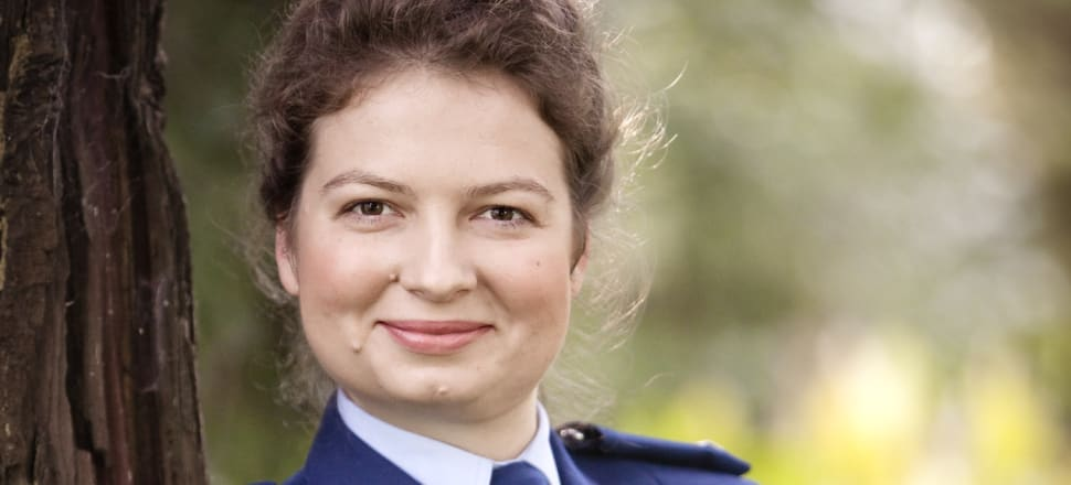Victoria Kirichuk had been with NZ Police as a constable for four years when she says she was approachedat a dinner party to access confidential information from the police database in exchange for money. Photo: Supplied