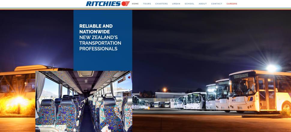 A screenshot of Ritchies' website.