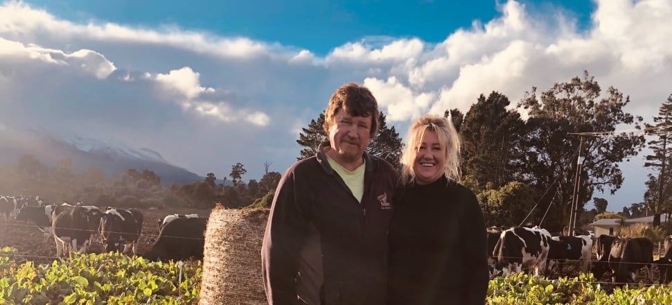 Tough and stubborn Taranaki dairy farmers Bill and Sharon Coomey have been fighting New Zealand's biggest bank ANZ for half a decade to recover up to $10 million of business losses and additional interest payments. Photo: Supplied