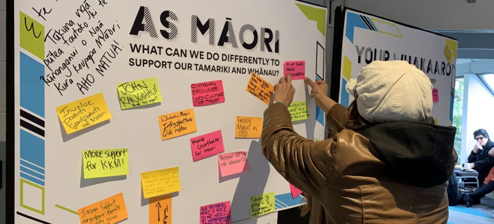 Those at the national hui on Oranga Tamariki had consistent calls to action. Photo: Bonnie Sumner.